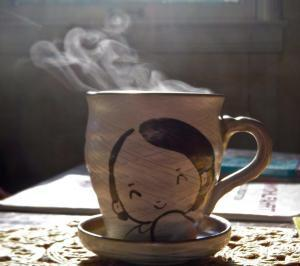 A steaming cup of chai