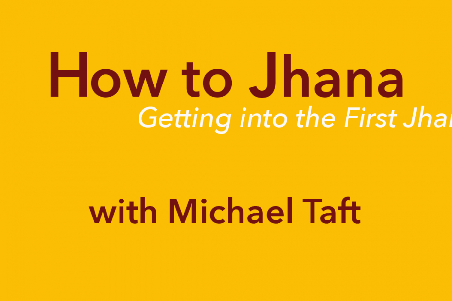 How to Jhana